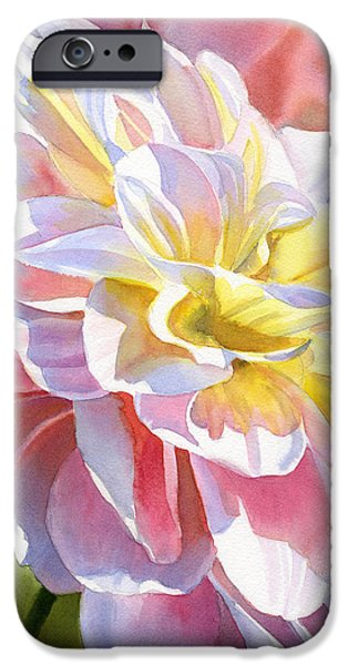 Peach And Yellow Dahlia IPhone Case by Sharon Freeman