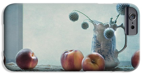 Peaches Still Life IPhone Case by Maggie Terlecki