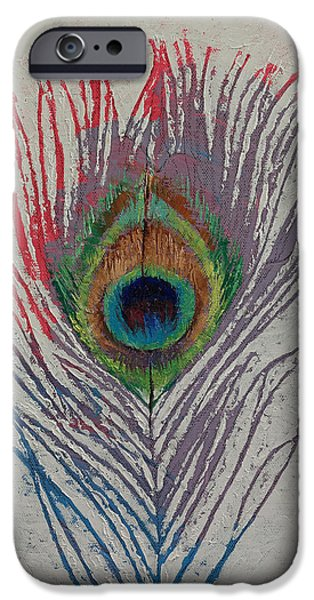 Peacock Feather IPhone Case by Michael Creese