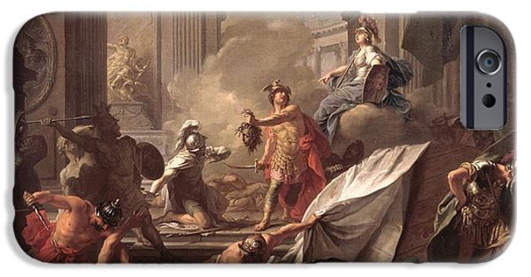 Perseus, Under The Protection Of Minerva, Turns Phineus To Stone By Brandishing The Head Of Medusa IPhone 6s Case by Jean-Marc Nattier