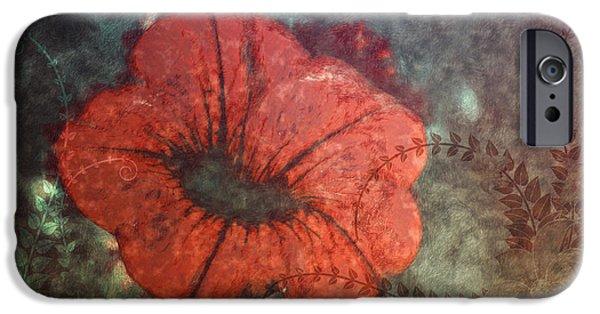 Petunia IPhone Case by Jutta Maria Pusl