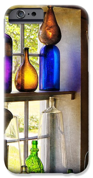 Pharmacy - Colorful Glassware  IPhone Case by Mike Savad