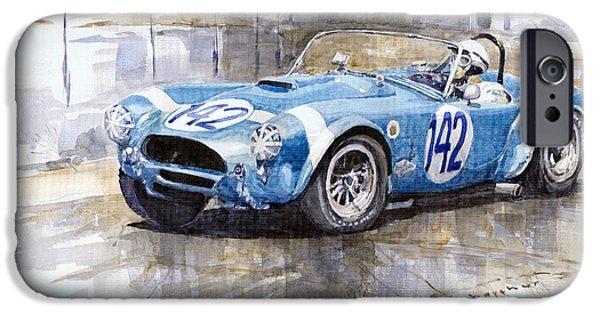 Phil Hill Ac Cobra-ford Targa Florio 1964 IPhone 6s Case by Yuriy Shevchuk