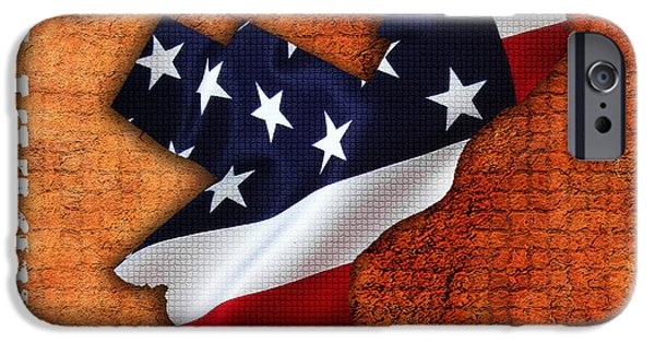 Philadelphia American Flag State Map IPhone Case by Marvin Blaine