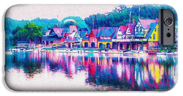 Philadelphia's Boathouse Row On The Schuylkill River IPhone Case by Bill Cannon