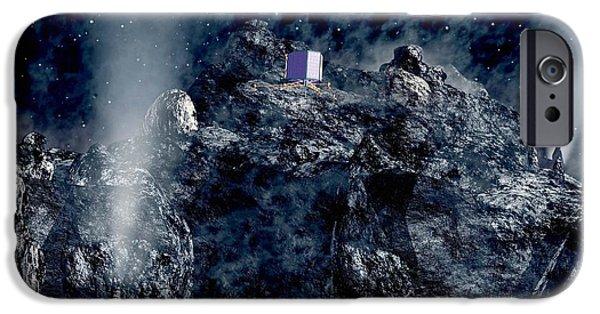 Philae Lander Descending Onto Comet IPhone Case by European Space Agency,medialab