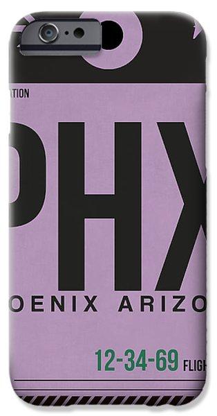 Phoenix Airport Poster 1 IPhone 6s Case by Naxart Studio