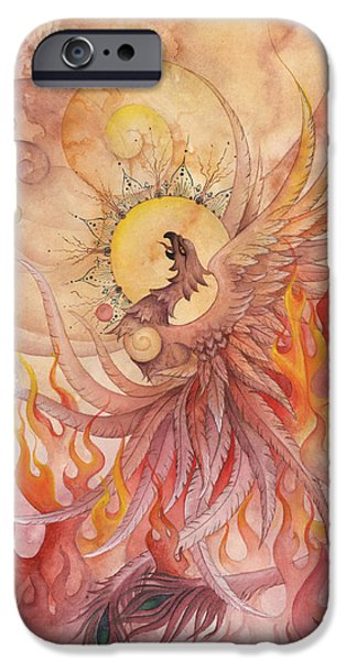 Phoenix Rising IPhone Case by Ellen Starr