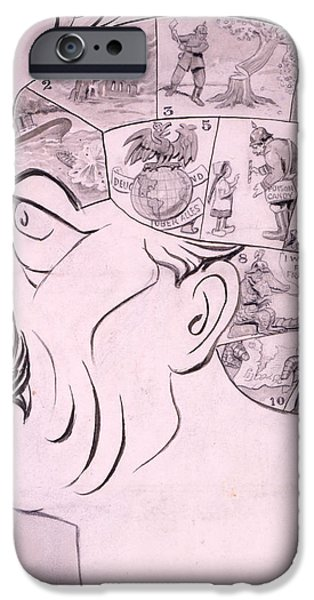 Phrenological Chart Of The German IPhone Case by Oliver Herford