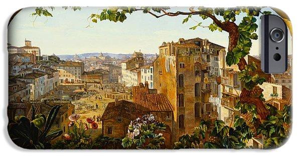 Piazza Barberini In Rome IPhone Case by Karl von Bergen