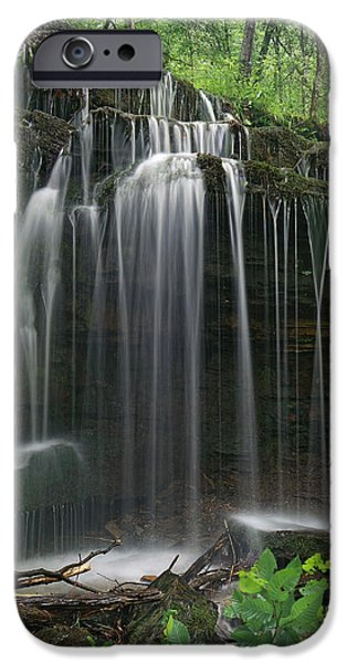 Pig Trail Falls Mulberry River Arkansas IPhone Case by Tim Fitzharris