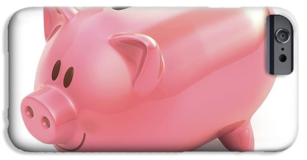 Piggy Bank With Two Slots IPhone Case by Ktsdesign