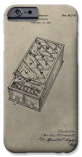 Pinball Machine Patent IPhone Case by Dan Sproul