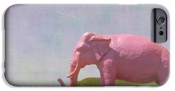 Pink Elephant IPhone Case by Kay Pickens