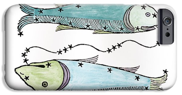 Pisces An Illustration IPhone Case by Italian School
