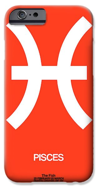 Pisces Zodiac Sign White IPhone Case by Naxart Studio