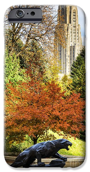 Pitt Panther And Cathedral Of Learning IPhone 6s Case by Thomas R Fletcher