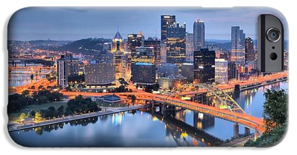 Pittsburgh Cityscape Sunrise IPhone Case by Adam Jewell