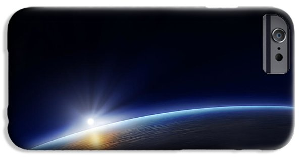 Planet Earth With Rising Sun IPhone 6s Case by Johan Swanepoel