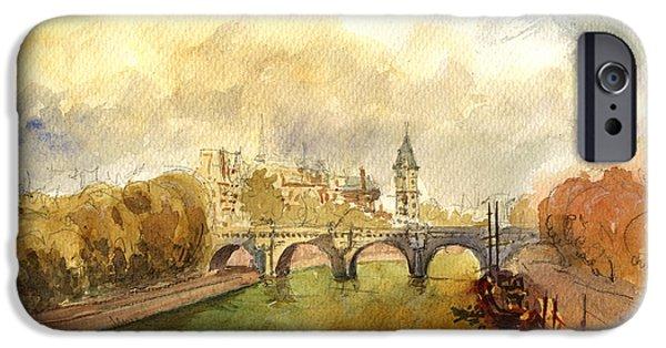 Ponte Neuf Paris IPhone 6s Case by Juan  Bosco