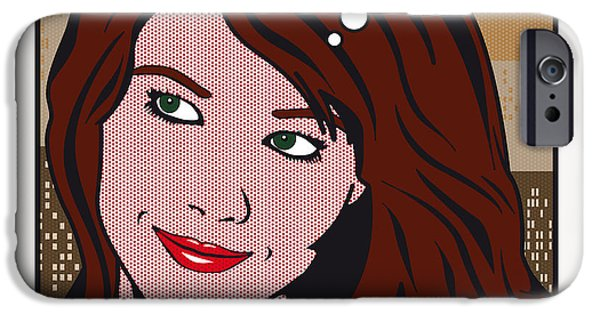 Pop Art Porn Stars - Mia Sollis IPhone Case by Chungkong Art