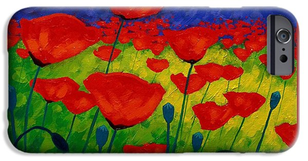 Poppy Corner II IPhone Case by John  Nolan