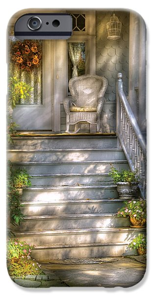 Porch - Westfield Nj - Grannies Porch  IPhone Case by Mike Savad