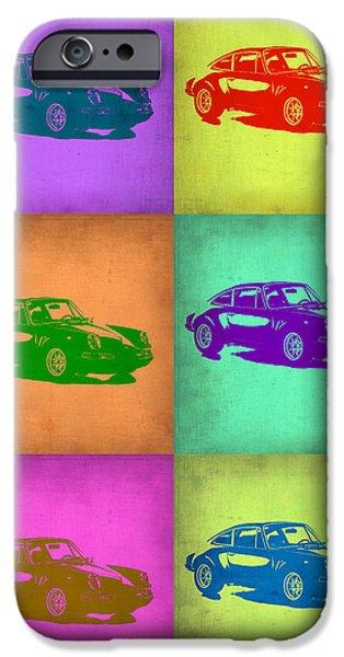 Porsche 911 Pop Art 2 IPhone Case by Naxart Studio