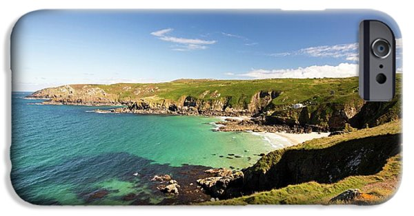 Porth Glaze Cove Near Gurnards Head IPhone Case by Ashley Cooper