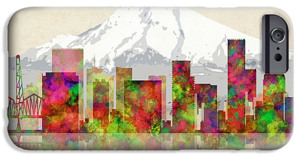 Portland Oregon Skyline IPhone Case by Daniel Hagerman