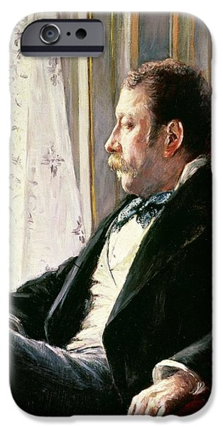 Portrait Of A Man IPhone Case by Gustave Caillebotte