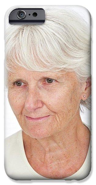 Portrait Of An Elderly Woman IPhone Case by Lea Paterson