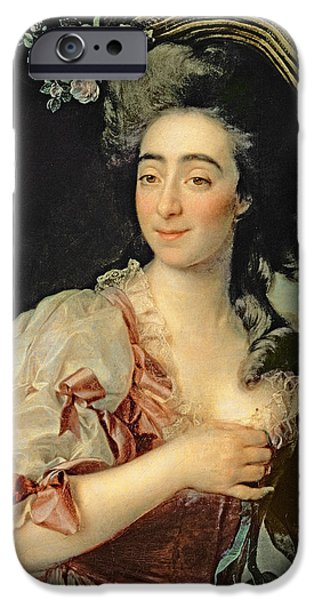 Portrait Of Anna Davia Bernucci IPhone Case by Dmitri Grigorevich Levitsky