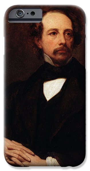 Portrait Of Charles Dickens IPhone Case by Ary Scheffer