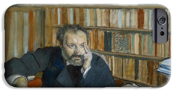 Portrait Of Edmond Duranty, 1879 IPhone Case by Edgar Degas