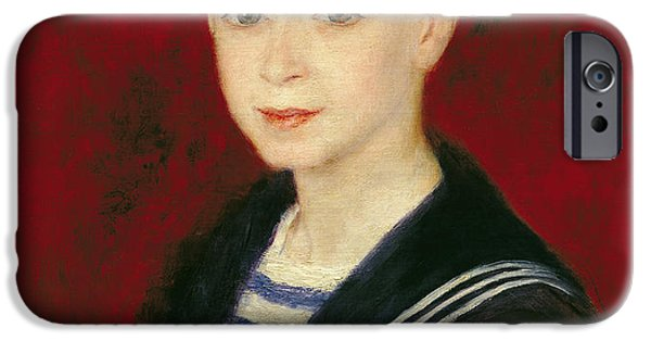 Portrait Of Fernand Halphen 1872-1917 1880 Oil On Canvas IPhone Case by Pierre Auguste Renoir