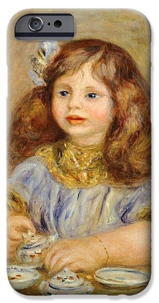 Portrait Of Genevieve Bernheim De Villiers IPhone Case by Pierre-Auguste Renoir