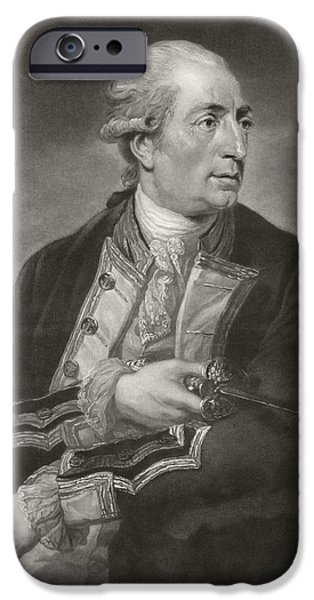 Portrait Of George Farmer Captain IPhone Case by Charles Grignion