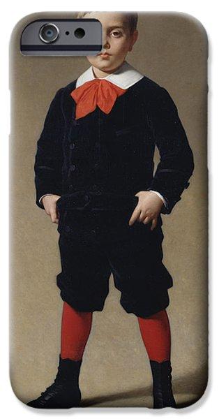 Portrait Of Henri Achille IPhone Case by Achille Zo