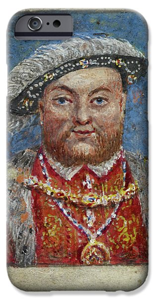 Portrait Of Henry Viii IPhone Case by British Library