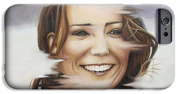 Portrait Of Kate Middleton IPhone Case by Ah Shui