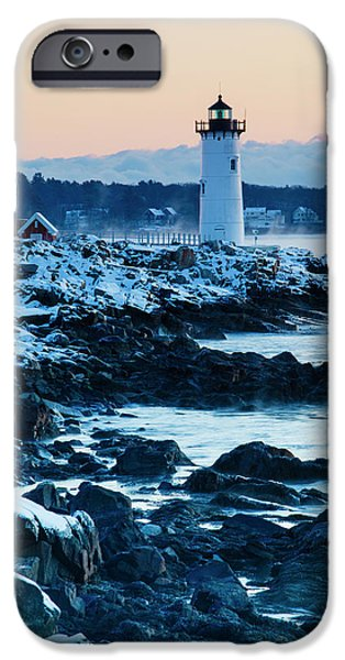 Portsmouth Harbor Lighthouse In New IPhone Case by Jerry and Marcy Monkman