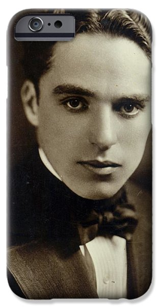 Postcard Of Charlie Chaplin IPhone Case by American Photographer