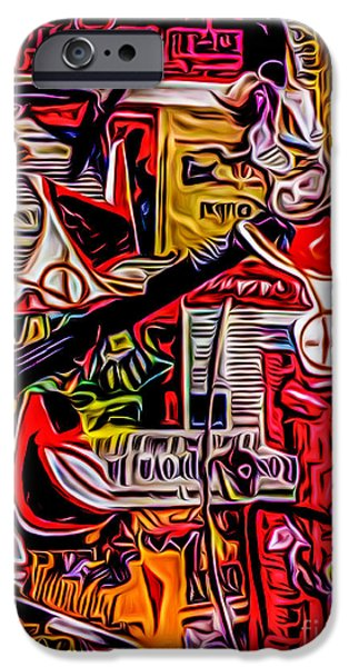 Poster 5 IPhone Case by Robert Daniels