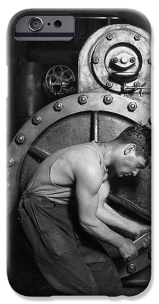Power House Mechanic 1920 IPhone Case by Mountain Dreams