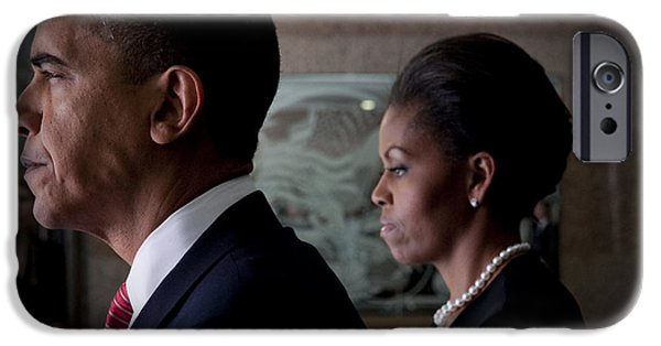 President And Mrs Obama IPhone Case by Mountain Dreams