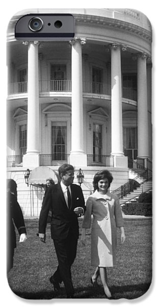 President John F. Kennedy And The First IPhone Case by National Archives