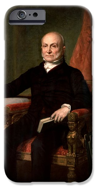 President John Quincy Adams  IPhone Case by War Is Hell Store