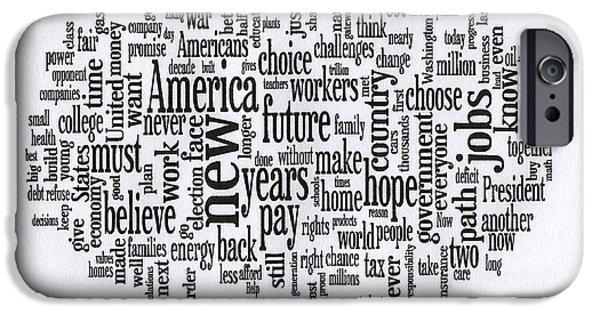 President Obama Acceptance Speech - 2012 IPhone Case by David Bearden