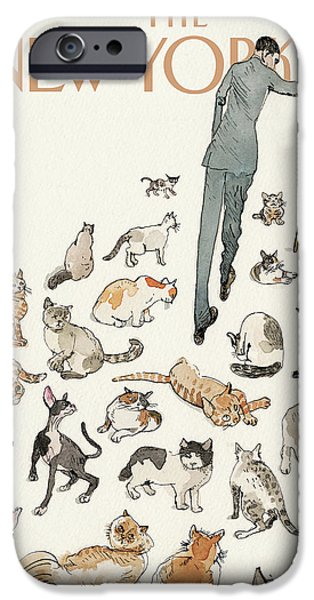 President Obama Attempts To Herd Cats IPhone Case by Barry Blitt